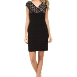 Adrianna Papell Black Dress Lace